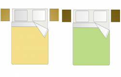 Bed plan with block of furniture view dwg file