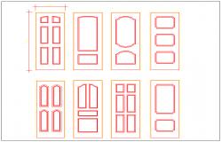 Bed room door design view