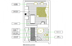 Bed room layout file