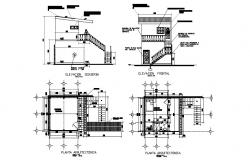 Bedroom working plan of 16,61 meter square with attached bathroom