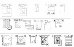 Beds plan detail dwg file.