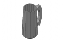 Beer mug front elevation