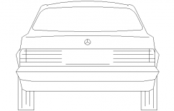 Benz rear view front detail
