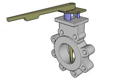 Bfly manual spring 3d block cad drawing details skp file