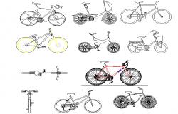 Bicycle design autocad file