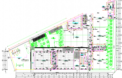 Big Layout plan of a college dwg file