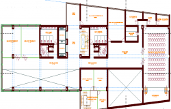 Big Layout plan of a office dwg file