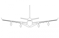 Big aircraft details in dwg file