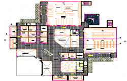 Big office meeting room , conference room dwg file