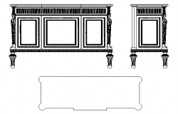Big side cabinet elevation details
