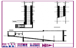 Bike ramp section detail design drawing