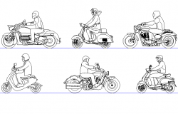 Biker view detail dwg file