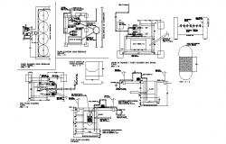 Bio-filter system electric installation details dwg file