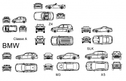 Block cars plan detail dwg file.