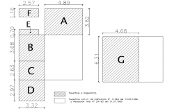 Block divided plan detail dwg file