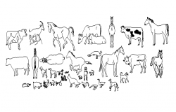 Block of Animals design drawing