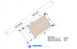 Block site location plan autocad file