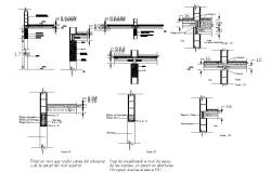 Block walls Supporting concrete construction cad drawing details dwg file
