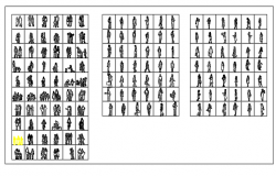 Blocks of  People dwg file