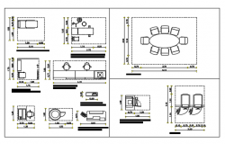 Blocks of  living room furniture dwg file
