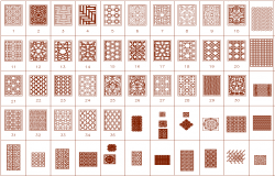Blocks of floor pattern designs dwg file