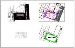 Blu-print of plan layout of location detail dwg file