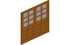 Board door design view in 3d