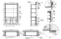 Bookcase Cupboard CAD Detail