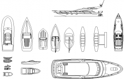 Bots and yachts detail dwg file