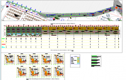 Boundary line wall plan and elevation view detail dwg file