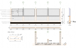 Boundary wall specifications detail dwg file
