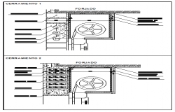 Break of thermal bridges design drawing