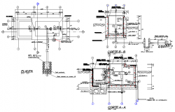 Breaking pressure chamber plan and section autocad file