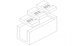 Brick 3 D plan dwg file