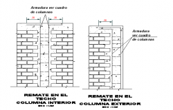 Brick construction elevation detail