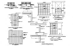 Brick wall section and construction cad drawing details dwg file