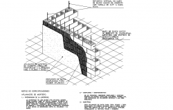 Brick wall section detail dwg