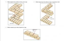 Brick wall structure of house cad drawing details dwg file