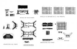 Bridge Bodywork structure detail elevation 2d view dwg file