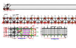 Bridge construction details architecture project dwg file