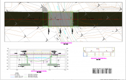 Bridge inter oceanic highway section plan dwg detail.,