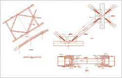 Bridge part steel structure view dwg file