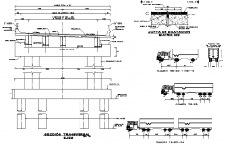 Bridge plan and section plan detail dwg file