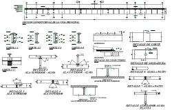 Bridge section plan detail dwg file