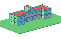 Building 3d design for office dwg file