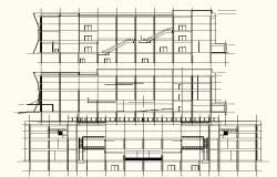 Building Apartment Elevation detail in DWG file