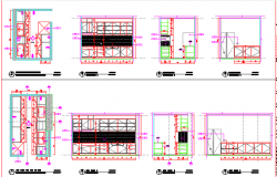 Building B kitchen elevational details