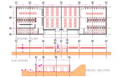 Building Bathroom drawing dwg file