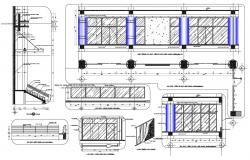 Building Column Details DWG File