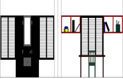Building Design and Elevation dwg file